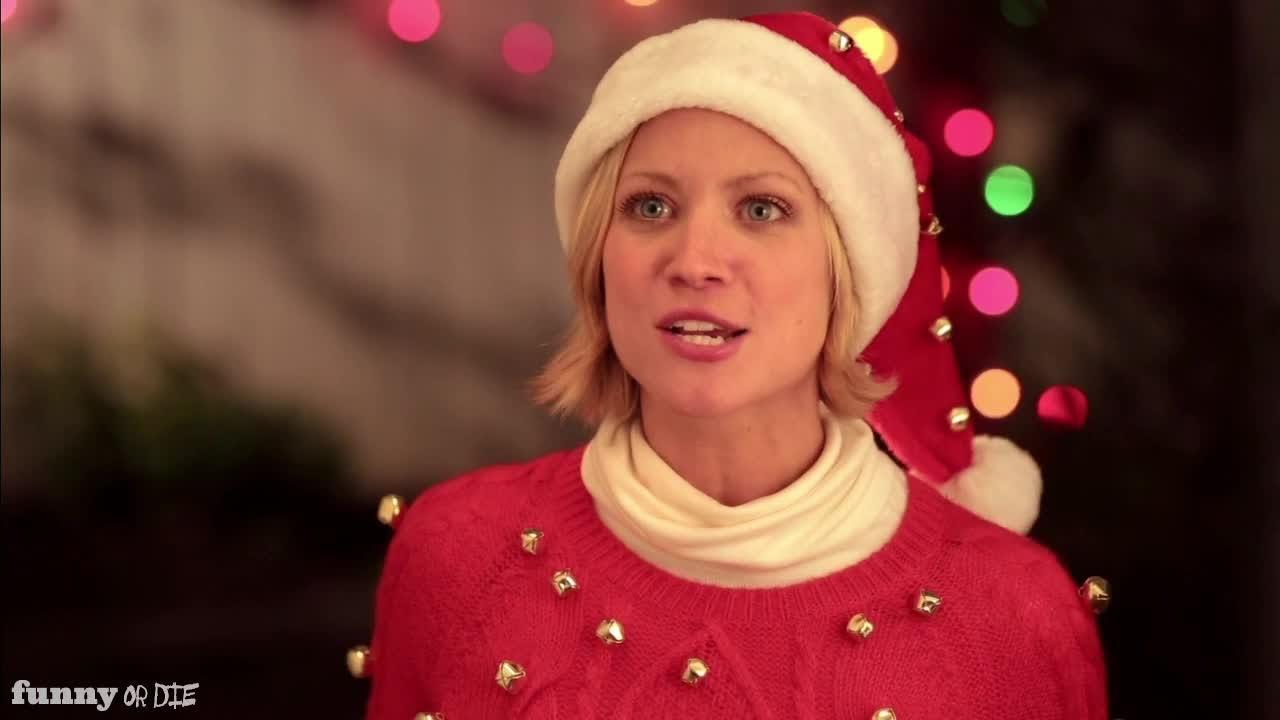 Christmas Caroling w/ Brittany Snow - YouTube