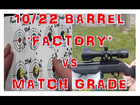 Ruger 10/22 ACCURACY: *Factory* vs Match Grade Barrel 25yd/50yd