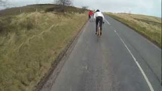 PENDLE VINTAGE VELO Cycle Ride-  Pendle Hill Climb GoPro Hero 3 Ian Donohoe takes it on