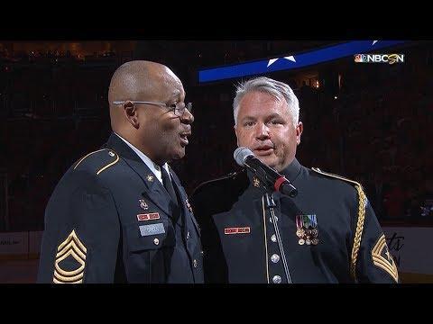 TBL@WSH, Gm3: Army sergeants perform national anthem