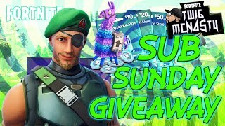 GIVEAWAY VBUCKS/FORTNITE SUB SUNDAY PLAYING WITH SUBS LIVE GIVEAWAY/FACECAM/ ! MERCH