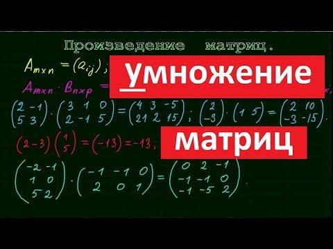 Как умножать матрицы онлайн