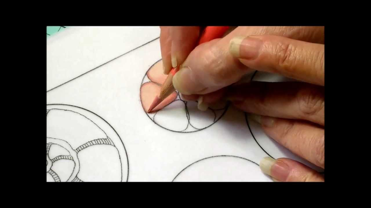 Color zentangles online - Color Pencil Tutorial Zentangle Inspired Art Color Blending Part One Youtube