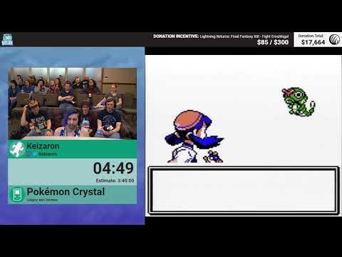 Pokémon Crystal (Glitchless) by Keizaron (RPG Limit Break 2018 Part 12)