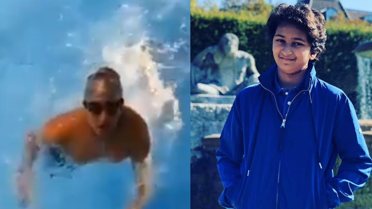 Mahesh Babu's Son Gautam Ghattamaneni Swimming Practice Video | Friday Poster