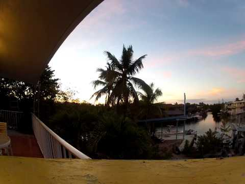 PINK SUNRISE IN KEY LARGO DEC 29TH 2012 & 77 Degrees at 6:00 am