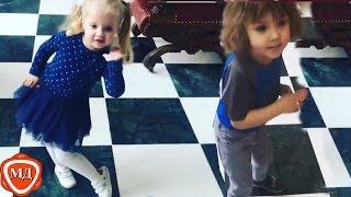ДЕТИ ПУГАЧЕВОЙ И ГАЛКИНА: Гарри и Лиза Галкины классно танцуют! НОВЫЕ ВИДЕО   2017 ГОД!