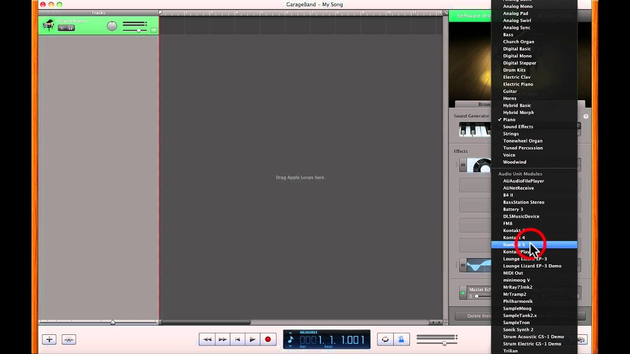 How to Load VST AU Plugin Instruments in GarageBand - VST Training 101