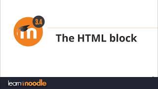 HTML block: Moodle 3.4 Mp3