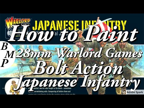 How to paint,28mm Warlord Games,Bolt Action, Japanese Infantry