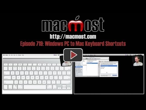 Windows PC to Mac Keyboard Shortcuts (MacMost Now 719)