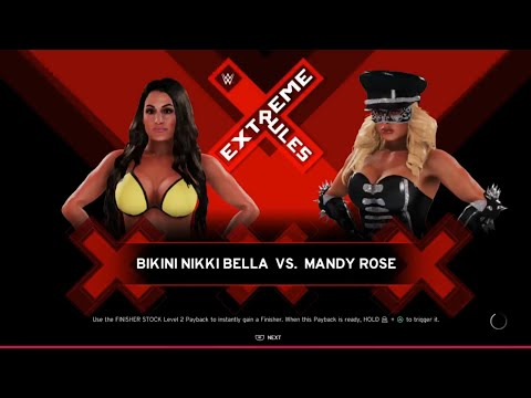 Nikki Bella vs. Mandy Rose (WWE 2K20) - Bikini Girl Fights 😍