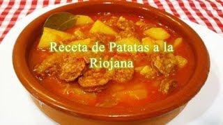 Cómo hacer las patatas a la Riojana, receta tradicional