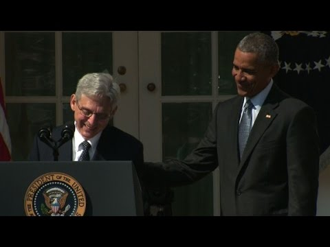 Merrick Garland chokes up during nomination