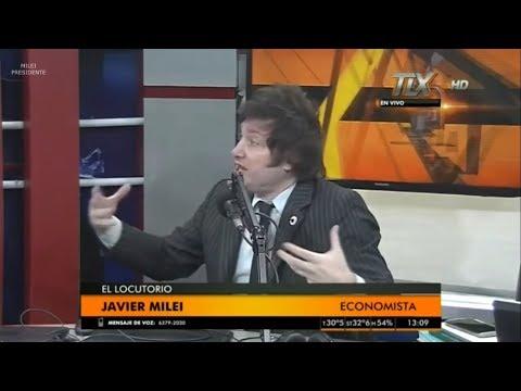"""Javier Milei: """"Argentina es la 3° economía más cerrada del mundo"""" Radio Latina- 05/02/18"""