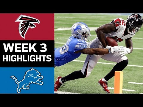 Falcons vs. Lions | NFL Week 3 Game Highlights