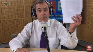 The Nigel Farage Show: My meeting with Michel Barnier. Live LBC - 8th January 2018