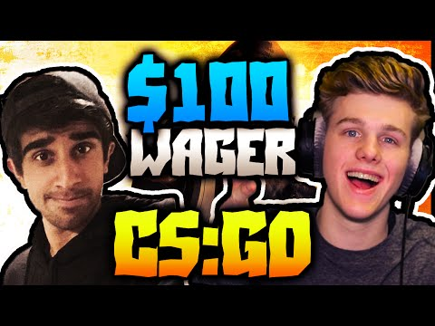 $100 WAGER! - CS:GO Competitive #15 with Vikkstar (Counter Strike Gameplay)