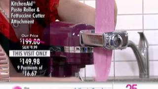 Kitchenaid Pasta Roller Stand Mixer Attachment At The Shopping Channel 504918