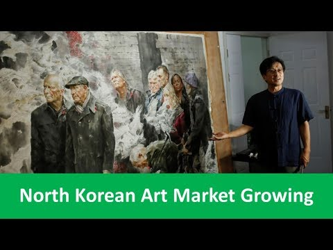 Learn English with VOA News - North Korean Art Market Growing