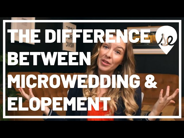The Difference Between a Micro Wedding & Elopement Wedding