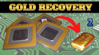 How to recover Gold from Scrap Ceramic CPU - Part 2