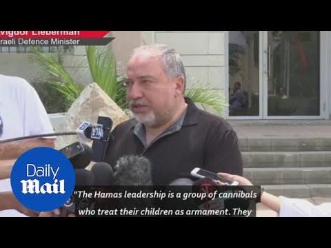 Israeli minister defends Gaza attacks calling Hamas 'cannibals' - Daily Mail