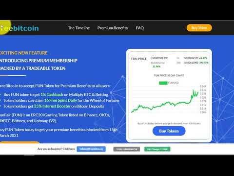 Freebitcoin предлагает Премиум-членство и множество бонусов за покупку FUN токенов