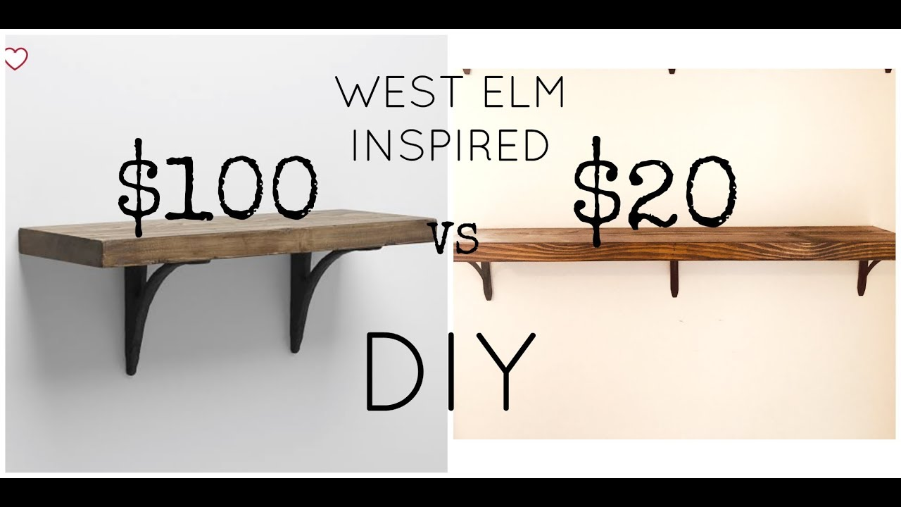 Easy West Elm Restoration Hardware Uo Inspired Shelf Diy 20