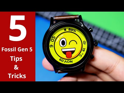 FOSSIL GEN 5! 5 Tips And Tricks That You Must Know