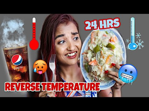I Ate FOOD In REVERSE TEMPERATURE For 24 HOURS CHALLENGE - WORST Way Of Eating Food - INDIA