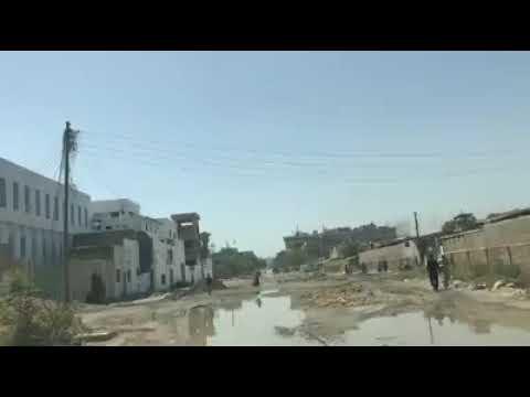 Pathetic road condition at site industrial area karachi 😑😑