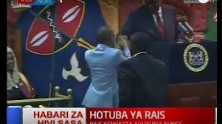 Uhuru Kenyatta's and Babu Owino surprise handshake in Parliament