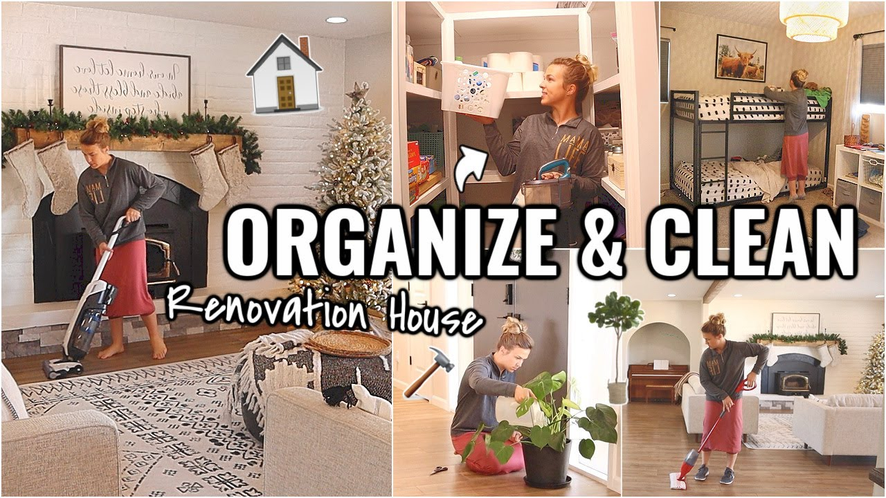 RENOVATION HOUSE CLEANING!!👏🏼 CLEAN & ORGANIZE WITH ME | OUR ARIZONA FIXER UPPER