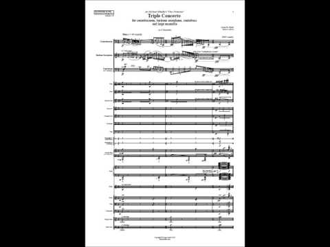 Triple Concerto for Contrabassoon, Baritone Saxophone, and Contrabass - Lucas Oickle