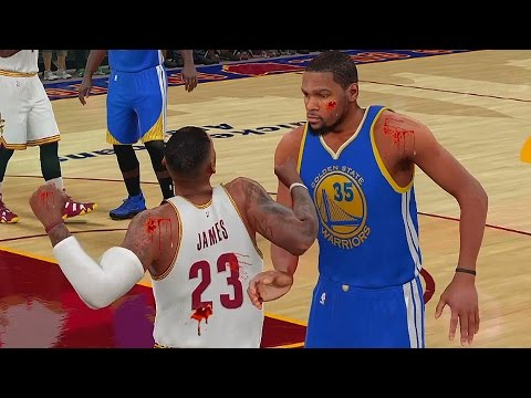 LEBRON JAMES FIGHTS KEVIN DURANT  &...