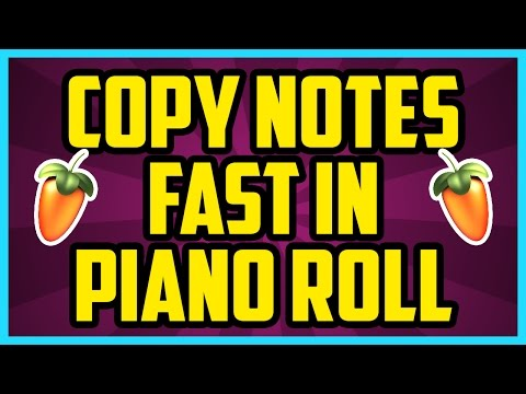 FL Studio 12 How To Copy And Paste In Piano Roll FAST 2017 - Fl Studio Copy Pattern