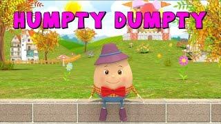Humpty Dumpty   3D Nursery Rhymes and Songs    Kiddy Songs
