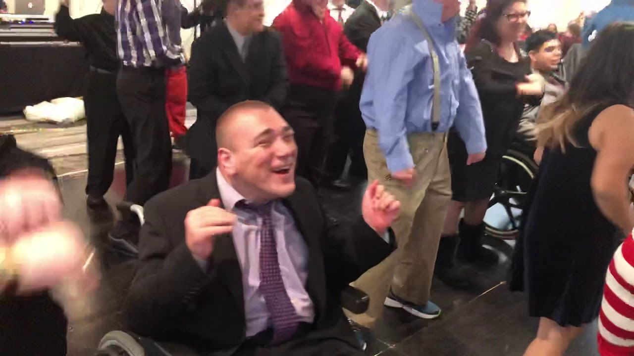 Charles dancing at Ability First Dinner 2019
