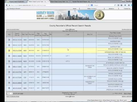 How to Do a Title Search in Miami-Dade County