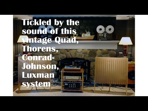 Vintage Electrostatic Speakers And Tube Electronics Make The Magic Happen