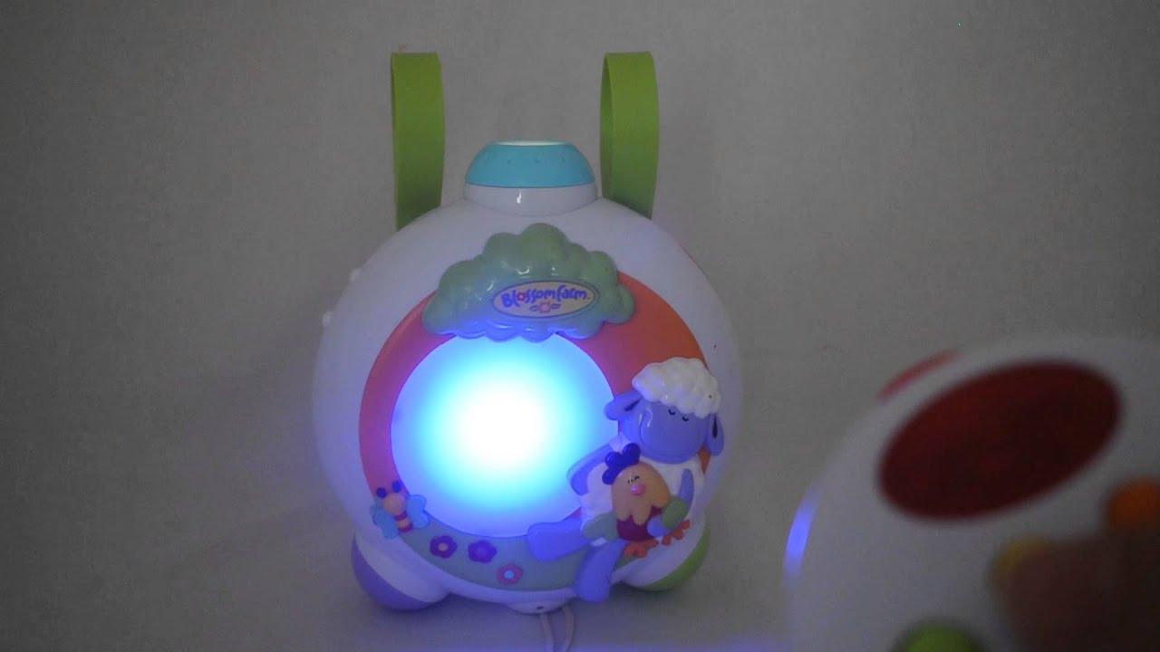 Licht Projector Baby : 108 elc blossom farm pozytywka z projektorem youtube
