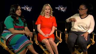 Mindy Kaling, Reese Witherspoon and Oprah Winfrey talk about A Wrinkle in Time