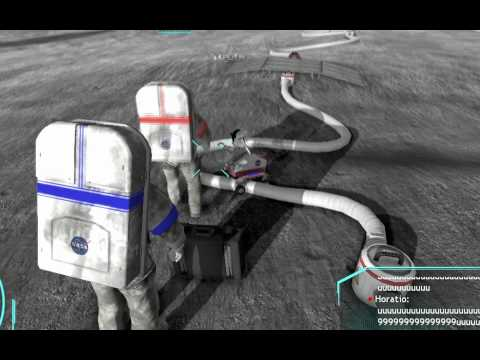 Moonbase Alpha provides a realistic simulation of life on a natural satellite