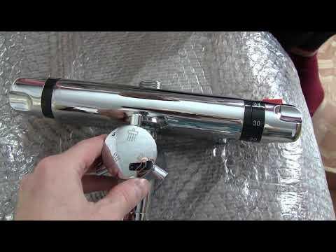 Обалденный кран с терморегулятором термосмесителем для душа от китаЁз...