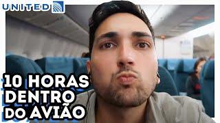 VOANDO DO BRASIL PARA OS ESTADOS UNIDOS - O QUE FAZER DENTRO DO AVIÃO? - BOEING 777 UNITED AIRLINES