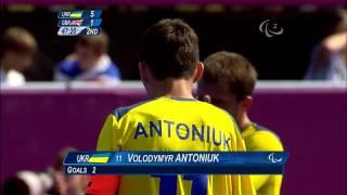 Football 7-a-side - UKR vs GBR - 2nd half Men's Prelims B1 vs B3 - London 2012 Paralympic Games