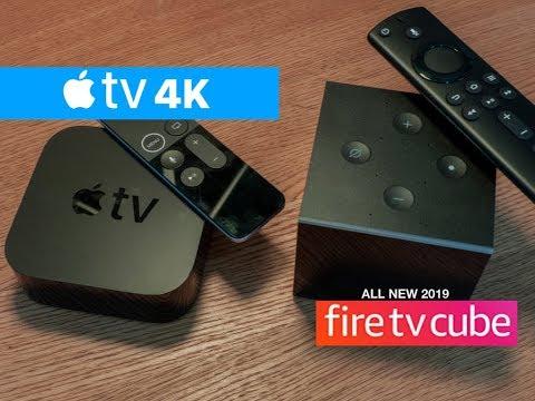 New 2019 Amazon Fire TV Cube 4K Vs Apple TV 4K | Best 4k Streaming Device