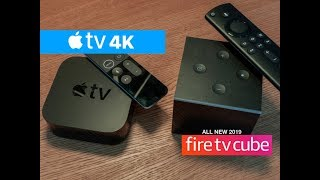 New 2019 Amazon Fire TV Cube 4K vs Apple TV 4K | Best 4k Streaming Device
