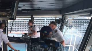 Pretty calm Bridge Team for moving the worlds largest Cruise Ship Harmony of the Seas